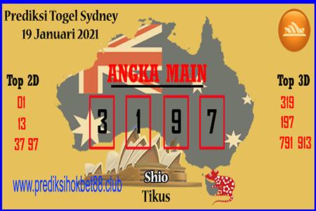 Prediksi Hokibet Togel Sidney Selasa 19 Januari 2021