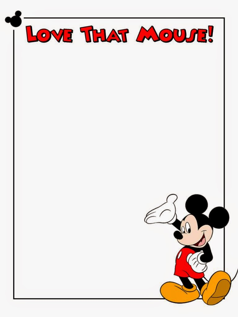 mickey free printable notebook