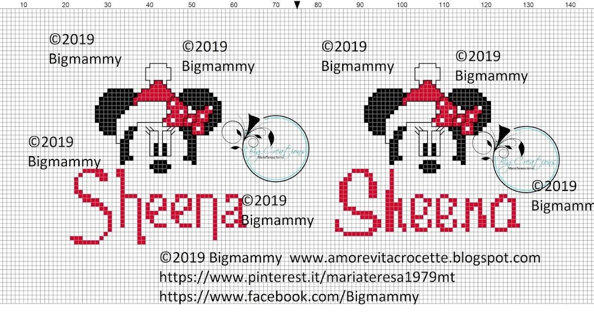 Amorevitacrocette Sheena Christmas Minnie Mouse