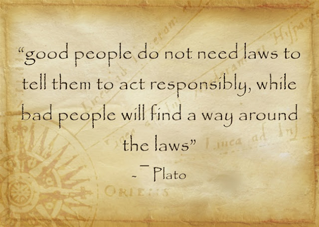 Plato quote about the law