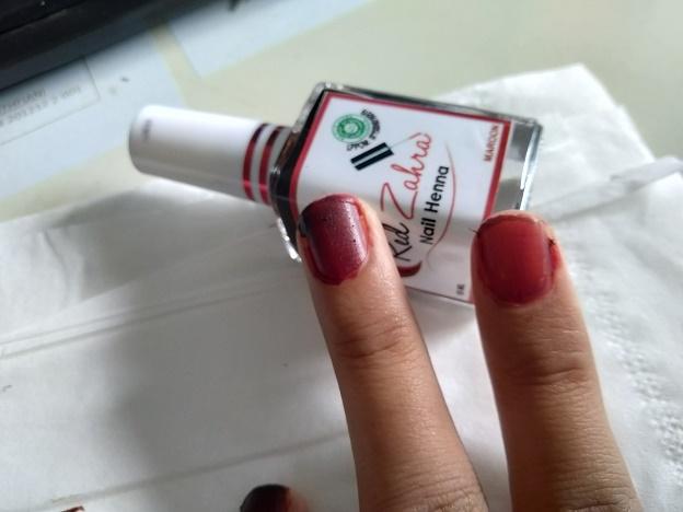 review red zahra nail henna kutek halal