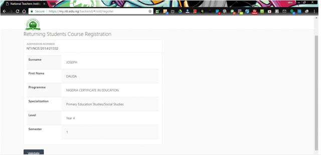 NTI Students Details Verification