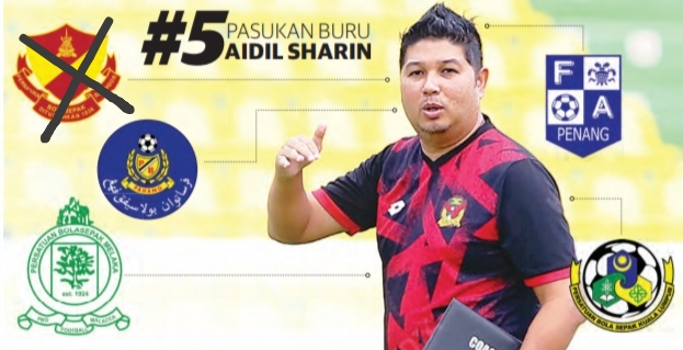 Gambar Aidil Sharin sahak jurulatih Kedah FA tahun 2020