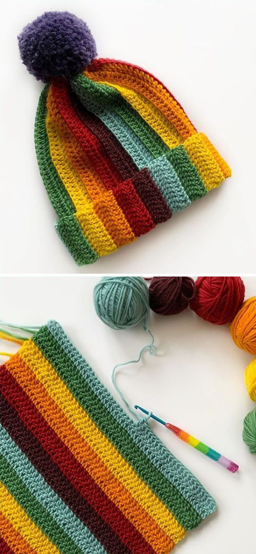 Easy Chunky Ribbed Hat - Tutorial