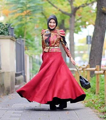 Model Gaun Pesta Dian Pelangi