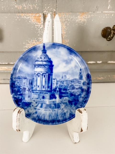 Echt Kobalt porcelain plate Mannheim Wassserturm