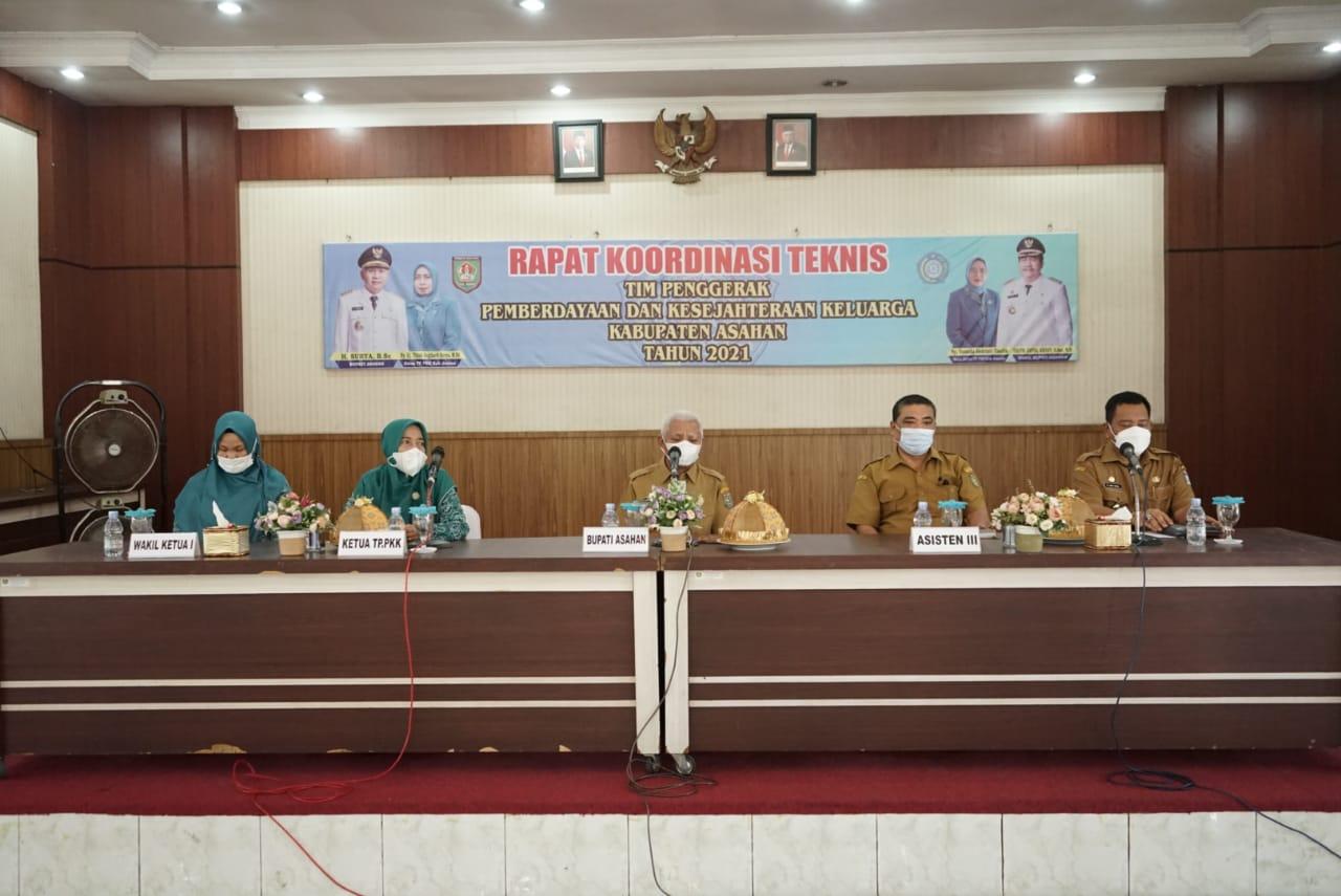 Bupati Menghadiri Rapat Koordinasi Teknis TP. PKK Kabupaten Asahan