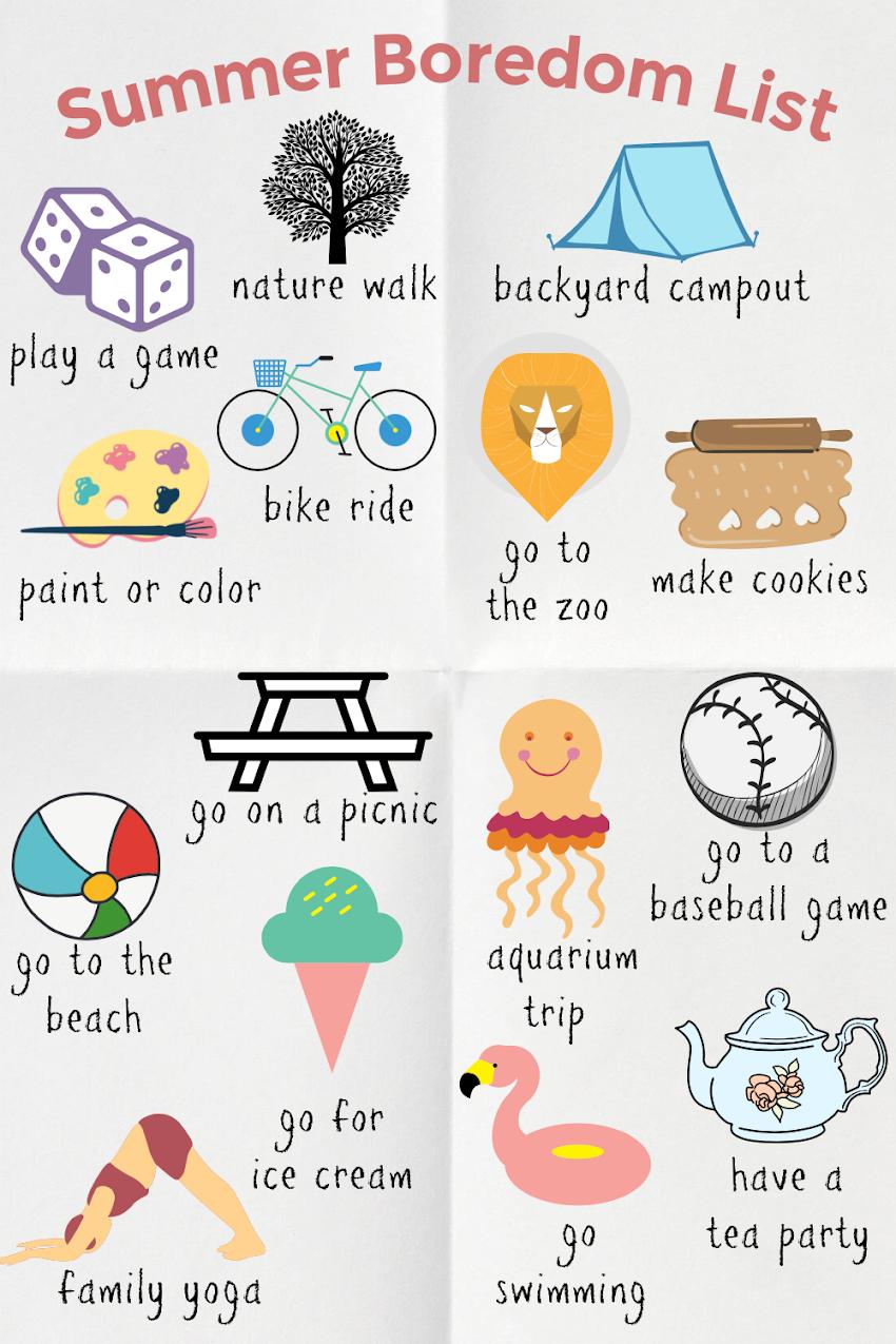 A List for Summer Boredom