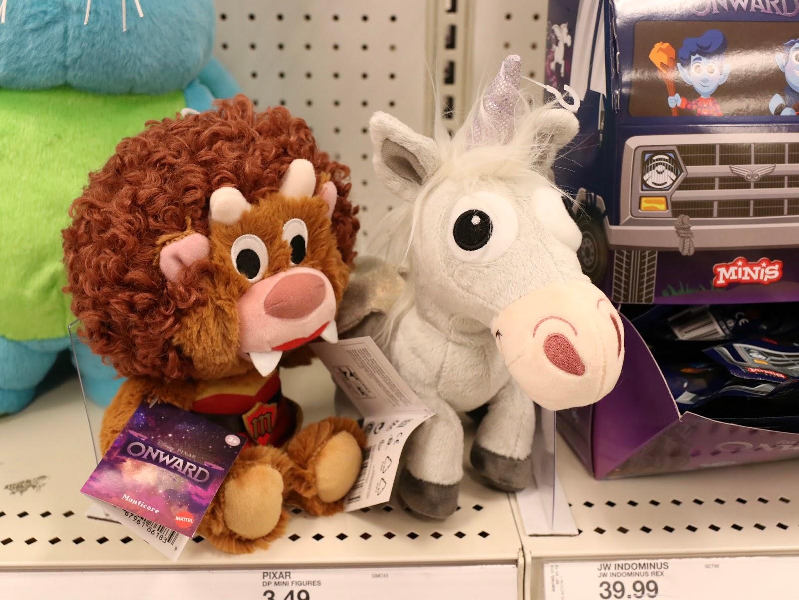 Pixar onward plush, Ian, Manticore and Unicorn