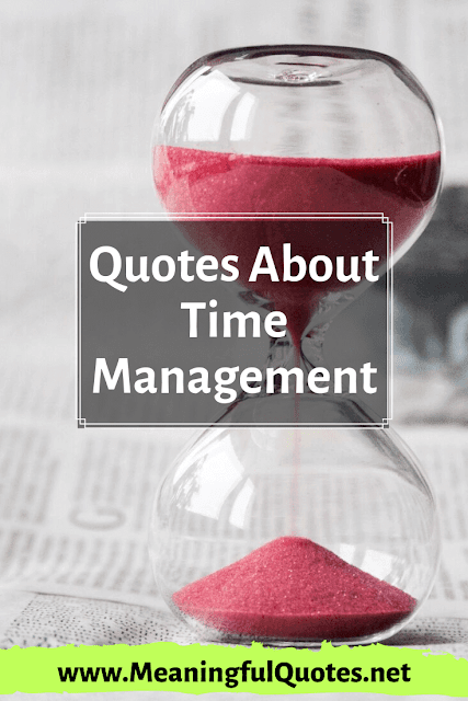time management quotes and sayings