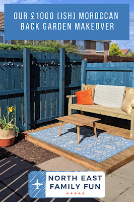 Our £1000 (ish) Moroccan Back Garden Makeover