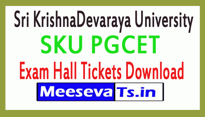 SKU PGCET 2019 Admit Card SKUCET PG Entrance Exam Hall Ticket