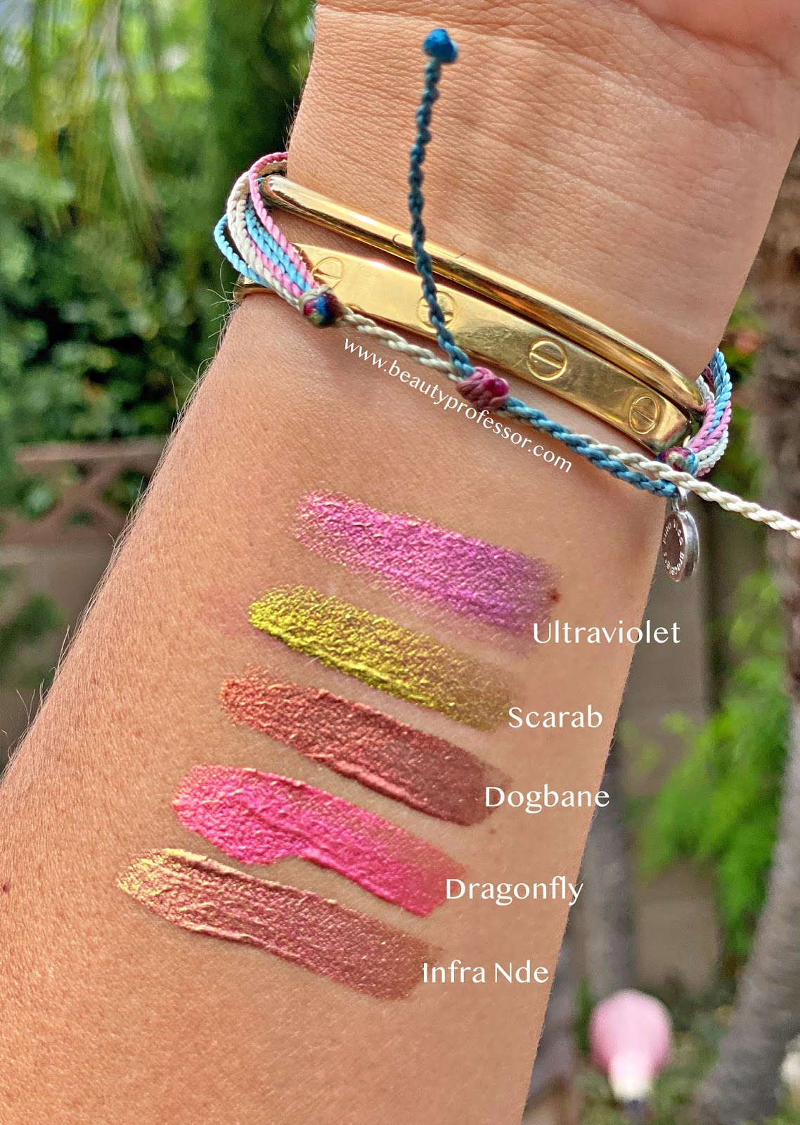 Natasha Denona Chromium Multichrome Liquid Eyeshadow swatches