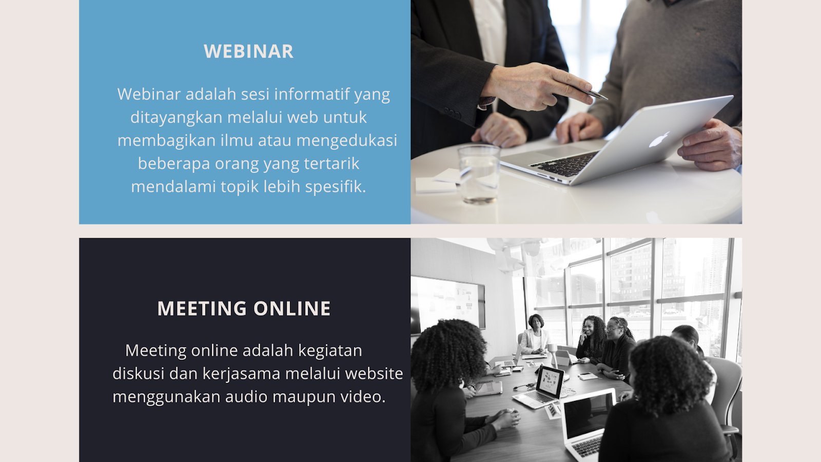 Inilah Perbedaan Webinar dan Meeting Online