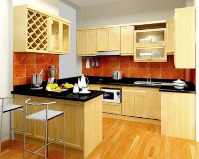 Chọn sàn gỗ tự nhiên chp phòng bếp