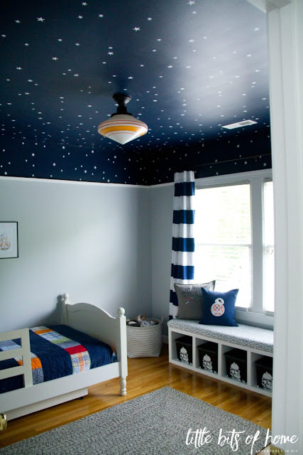 dark blue star ceiling