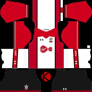 Southampton F.C. Kits 2017/2018 - Dream League Soccer