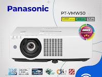 LCD Projector Panasonic PT‐VMW50, 5,000 lumens, WXGA ( 1280 x 800 )