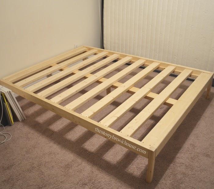 DIY Bed Frame set up in room