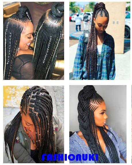 39 Hot Lemonade Braids Hairstyles Ponytails For African American Women Fashionuki