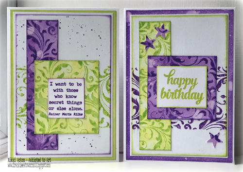 Tim Holtz Flourish stamp and Distress  Oxides and Inks - Nikki Acton