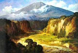 Lukisan Karya Basuki Abdullah, Ngarat-Minangkabau, Oil on Canvas, 95cm X 140cm
