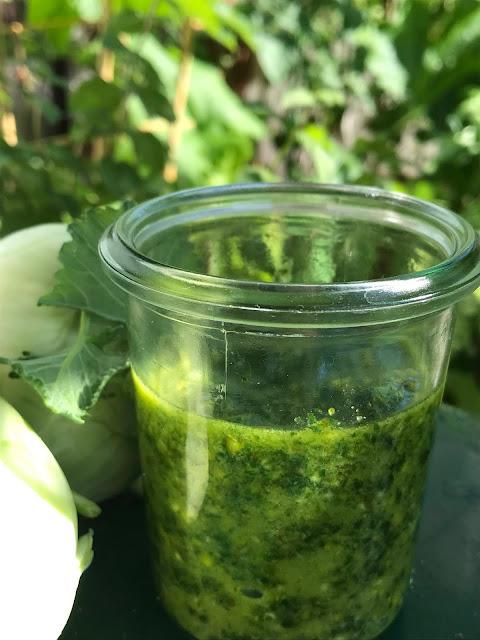 Raw Nasturtium Leaf Pesto