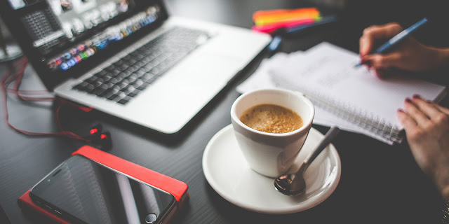 working with coffee