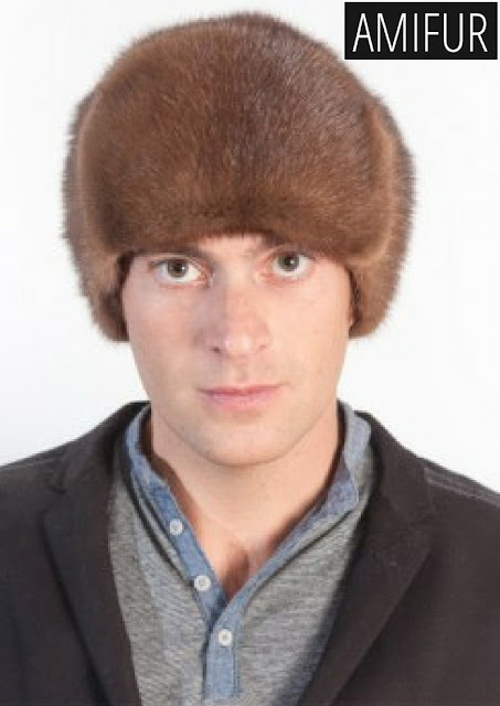 Mink fur hat russian