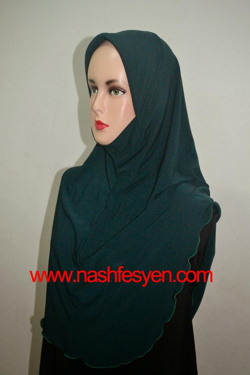 Nash Fesyen Tudung Soft Awning Plain