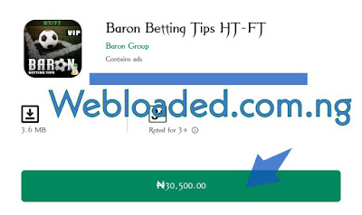 Baron Betting Tips HT-FT Latest version apk