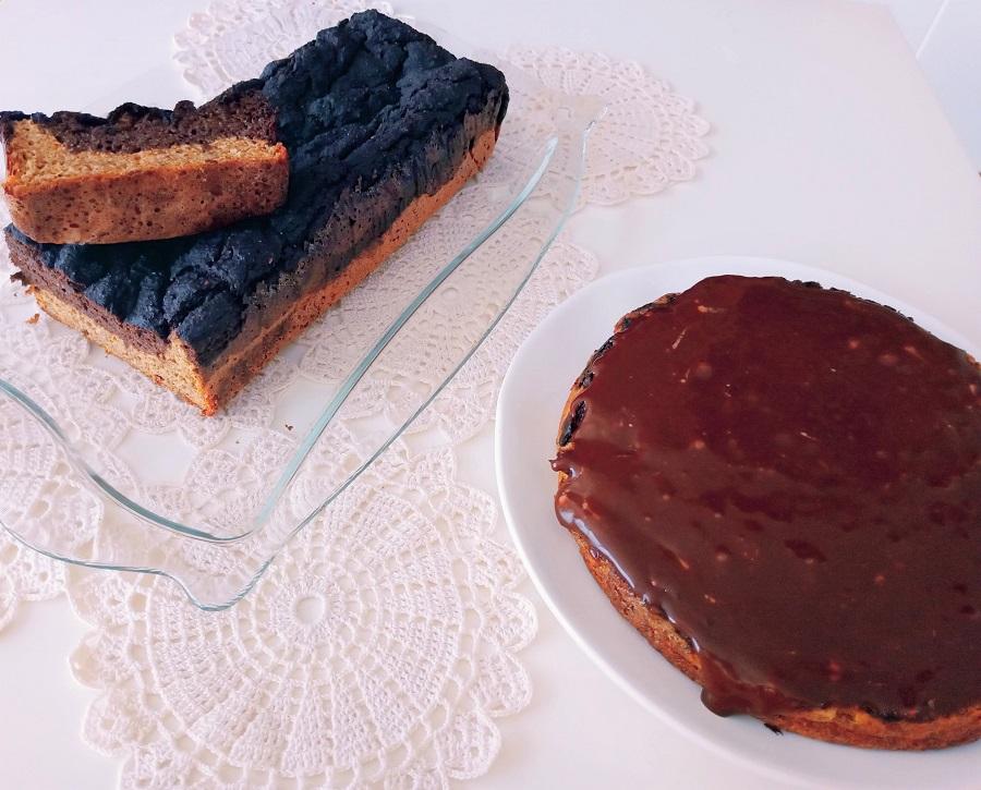 Brownie marmoreado com recheio de chocolate