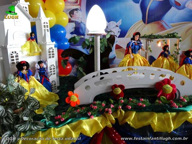 Decoração de aniversário Branca de Neve