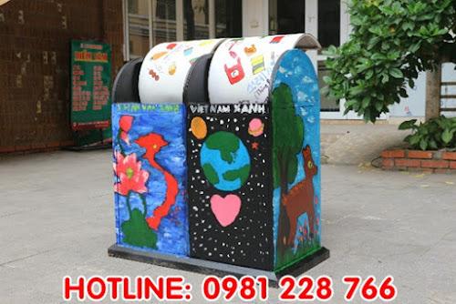 Nâng cao ý thức phân loại rác bằng việc trang trí thùng rác
