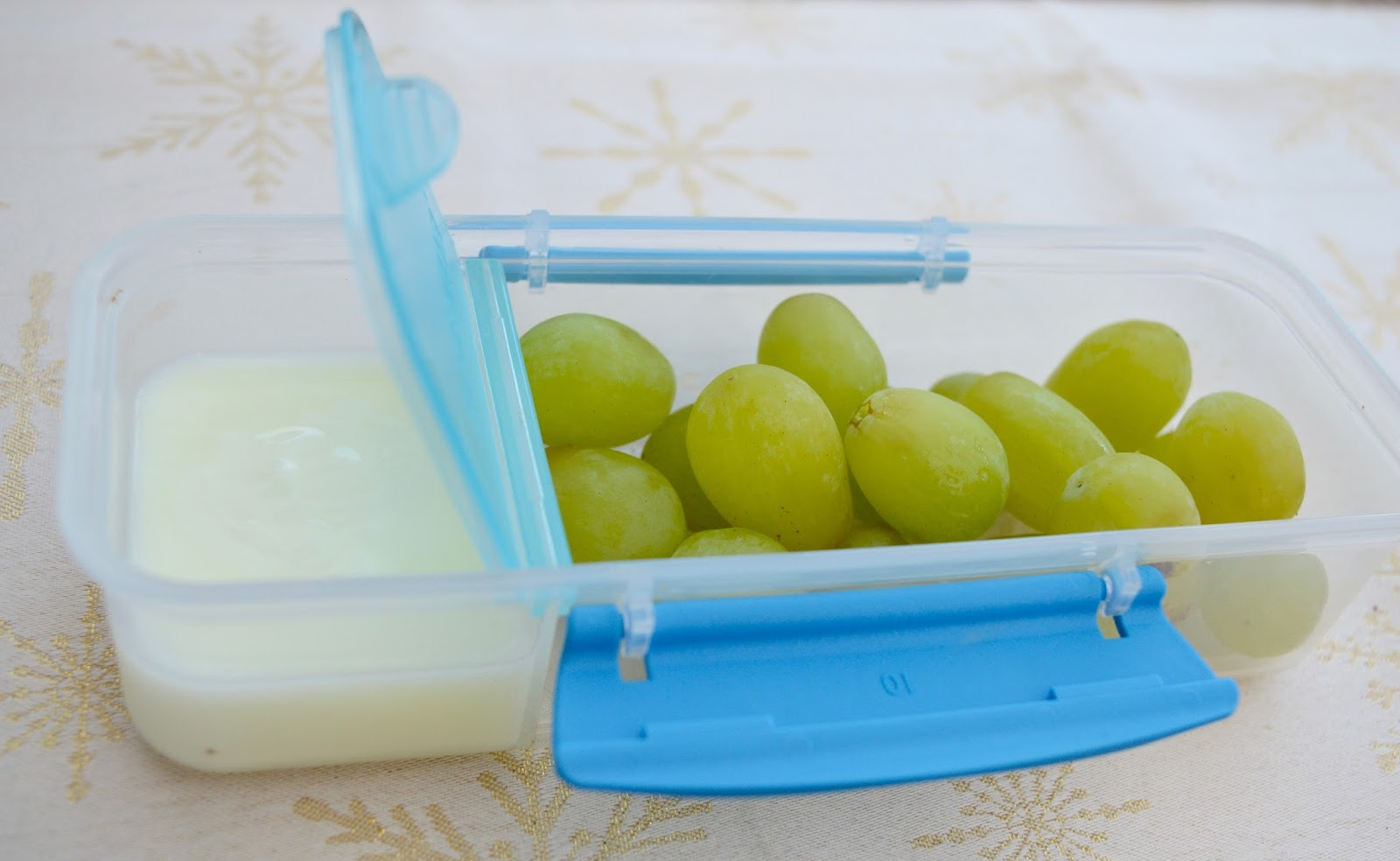 5 ways to add fruit & veg to your child's lunchbox and help them reach 5-a-day - grapes and yoghurt dip