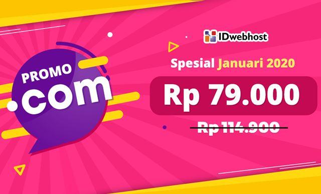Promo Idwebhost 2020 Domain Com Hanya Rp79 000 Alhidamart
