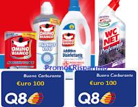 Logo Eroi di Casa ''Pulito e stile da 10 e lode'' : vinci buoni Q8 da 100€ e set accessori bagno Grohe