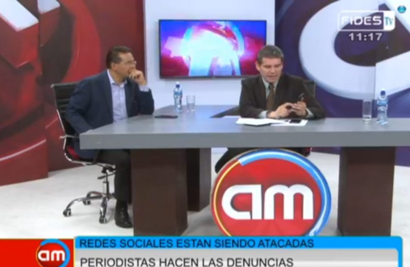 Gonzalo Rivera y John Arandia analizando el contexto de las RRSS para el periodismo boliviano / CAPTURA FIDES TV