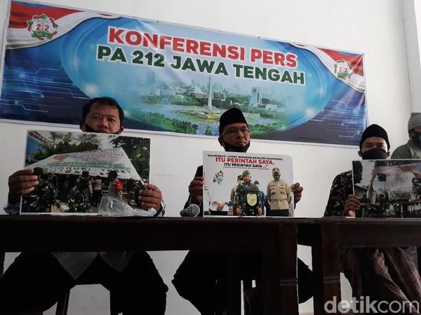 PA 212 Jateng Soal Spanduk Habib Rizieq Dicopot: Bukan Wewenang TNI-Polri