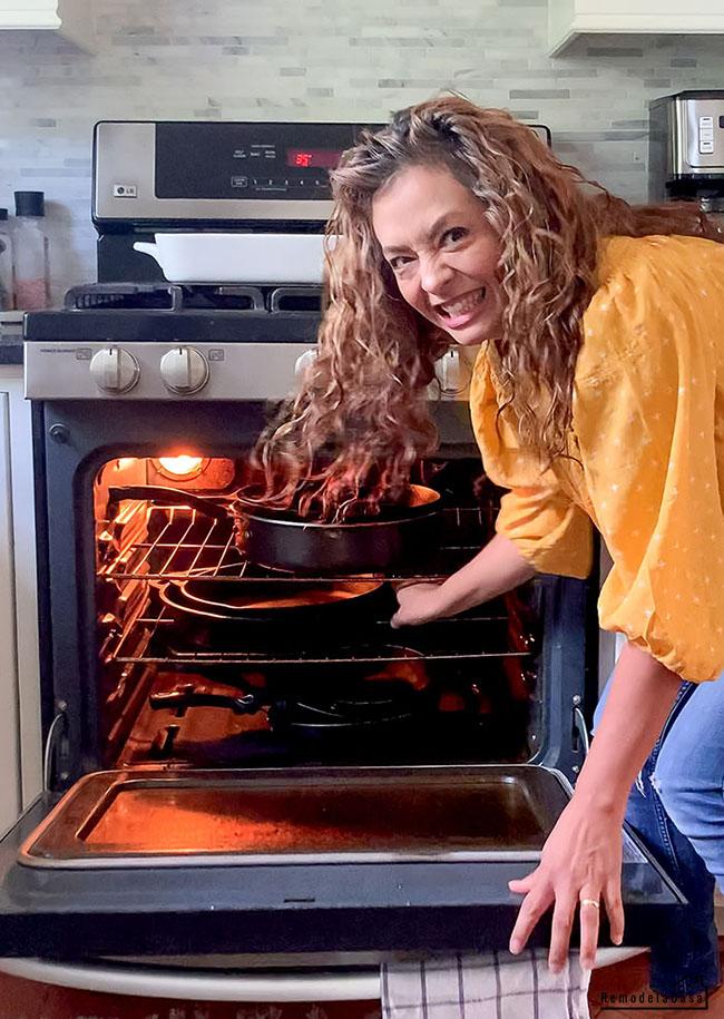 kitchen organization- Cast iron pans