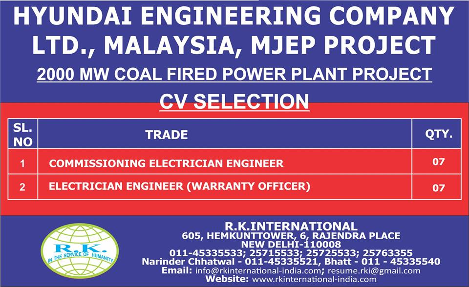 Hyundai Engineering Company LTD. Malaysia, MJEP Project