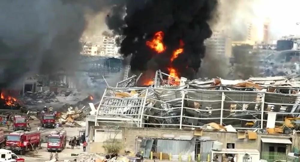 VIDÉOS : Un violent incendie sévit de nouveau dans le port de Beyrouth