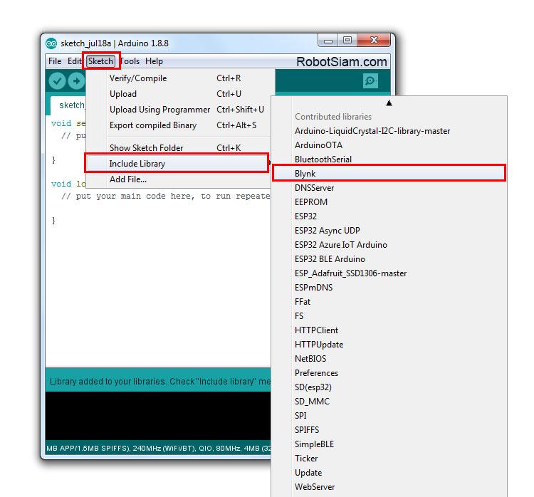 โปรเจค IoT ESP32 เปิดปิดไฟ ผ่าน Internet ด้วย App Blynk - โร