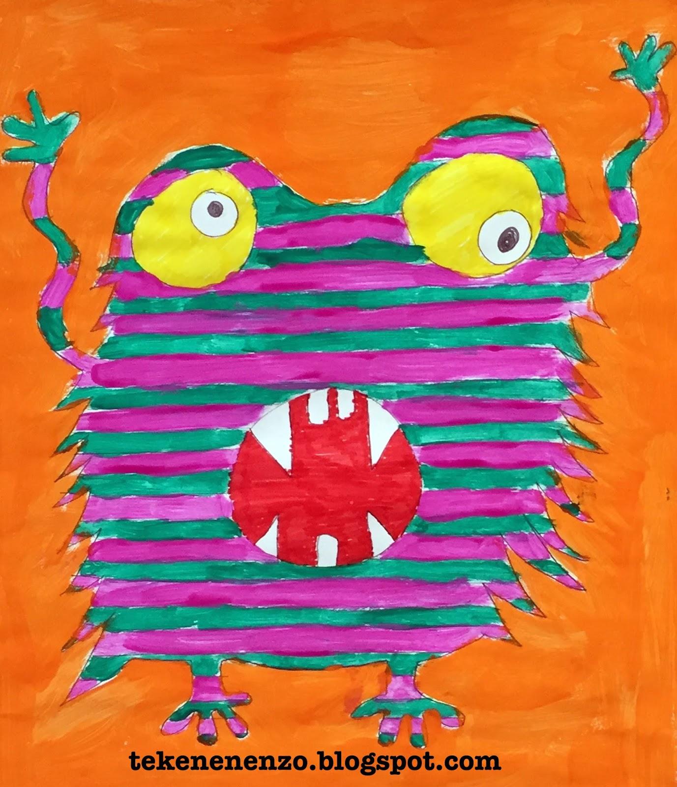 Tekenen en zo happy monsters - Ruimte van de jongen kleur schilderen ...