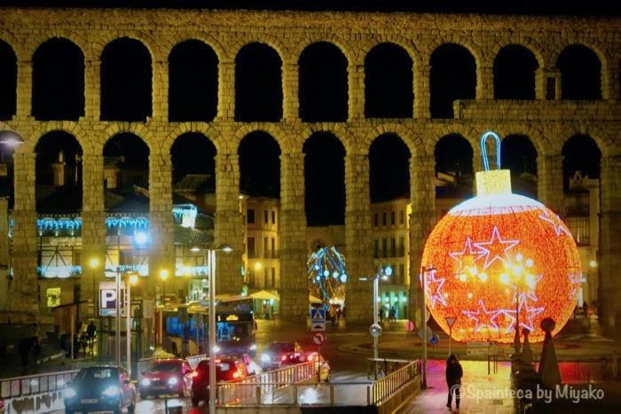 Segovia 世界遺産セゴビアのクリスマスイルミネーション