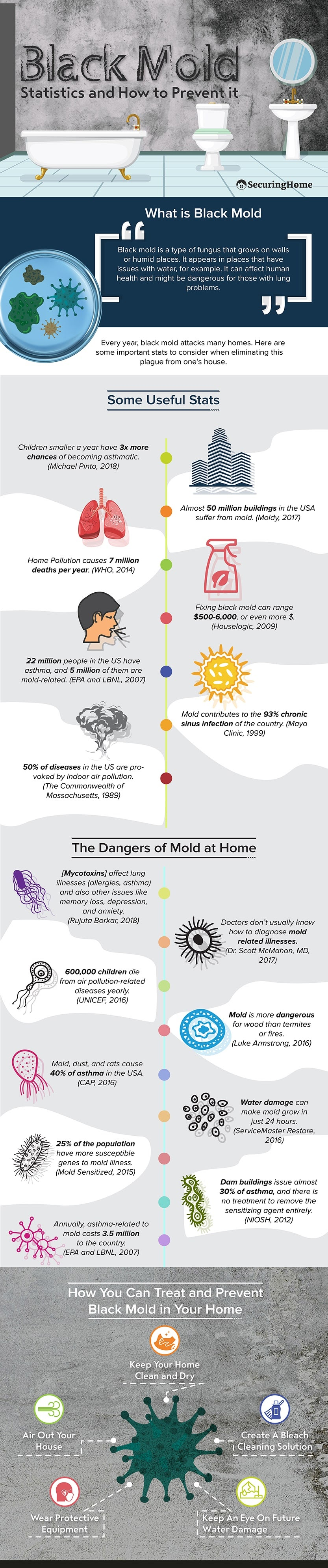 Black Mold Statistics & How to Prevent It #infographic