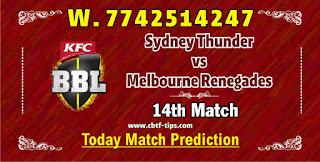 Dream11 THU vs REN BBL T20 Prediction: cricline Prediction BBL 2021