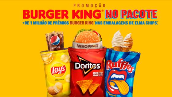 burger king elma chips promoção grátis