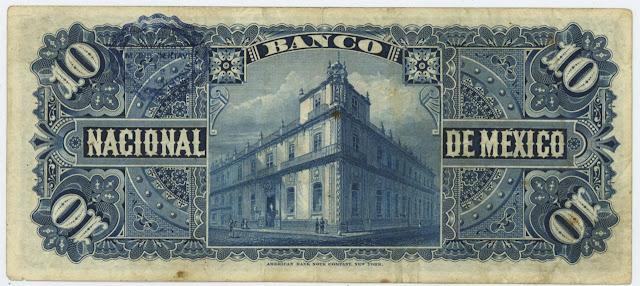 Mexican 10 Pesos bill, Banco Nacional de México