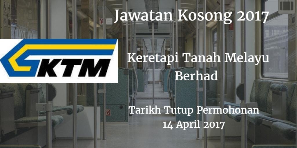 Jawatan Kosong KTMB 14 April2 017